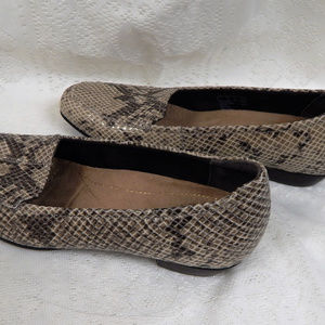 Clark's Artisan Animal Print Low Heel Shoe 7.5